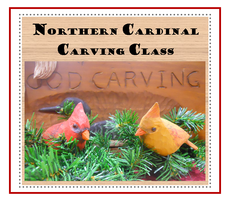 Northern Cardinal Carving Class at the Birds of Vermont Museum