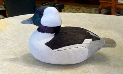 Bufflehead male, carved by Dick Allen