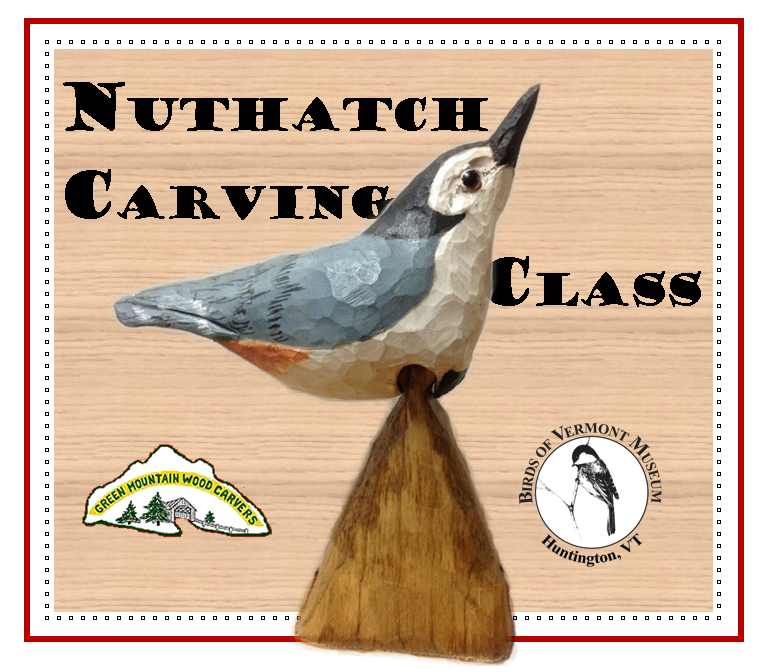 Carving Class: White-breasted nuthatch with David Tuttle