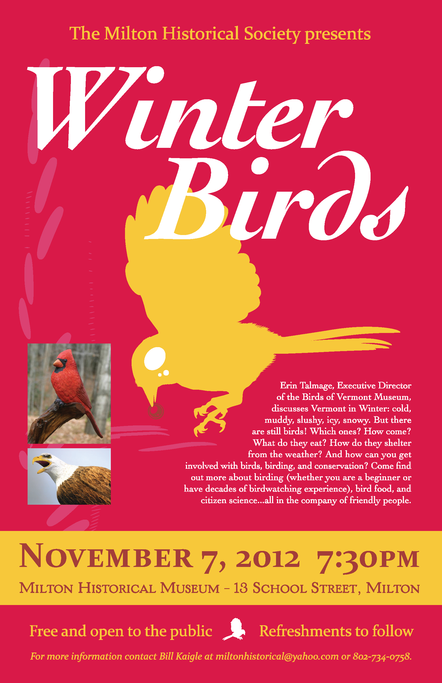 Winter Birds with the Milton Historical Society