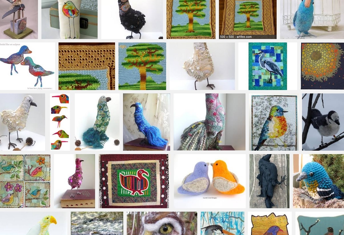 A few Birds of a Fiber from a google search. Let these inspire!