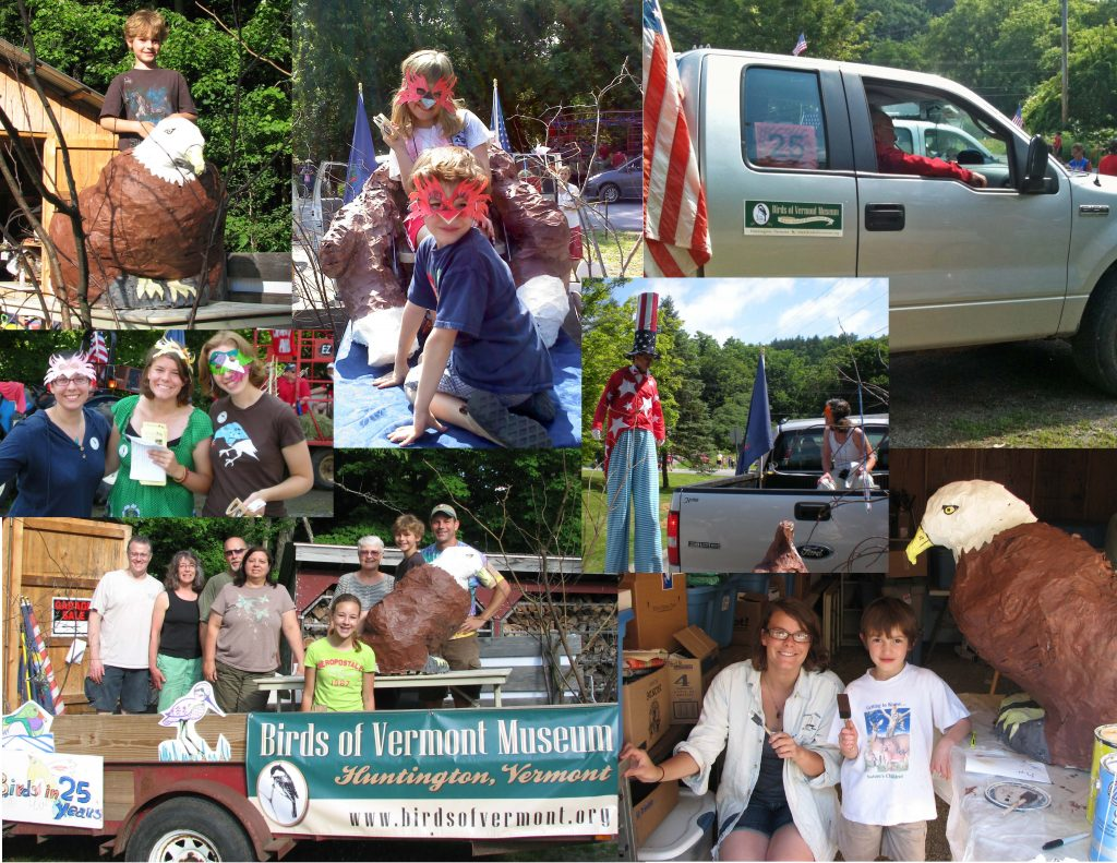 Fourth of July Float: volunteers, Interns, kids, and eagles!