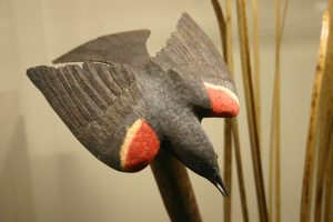 Red-winged Blackbird, Carved by Bob Spear