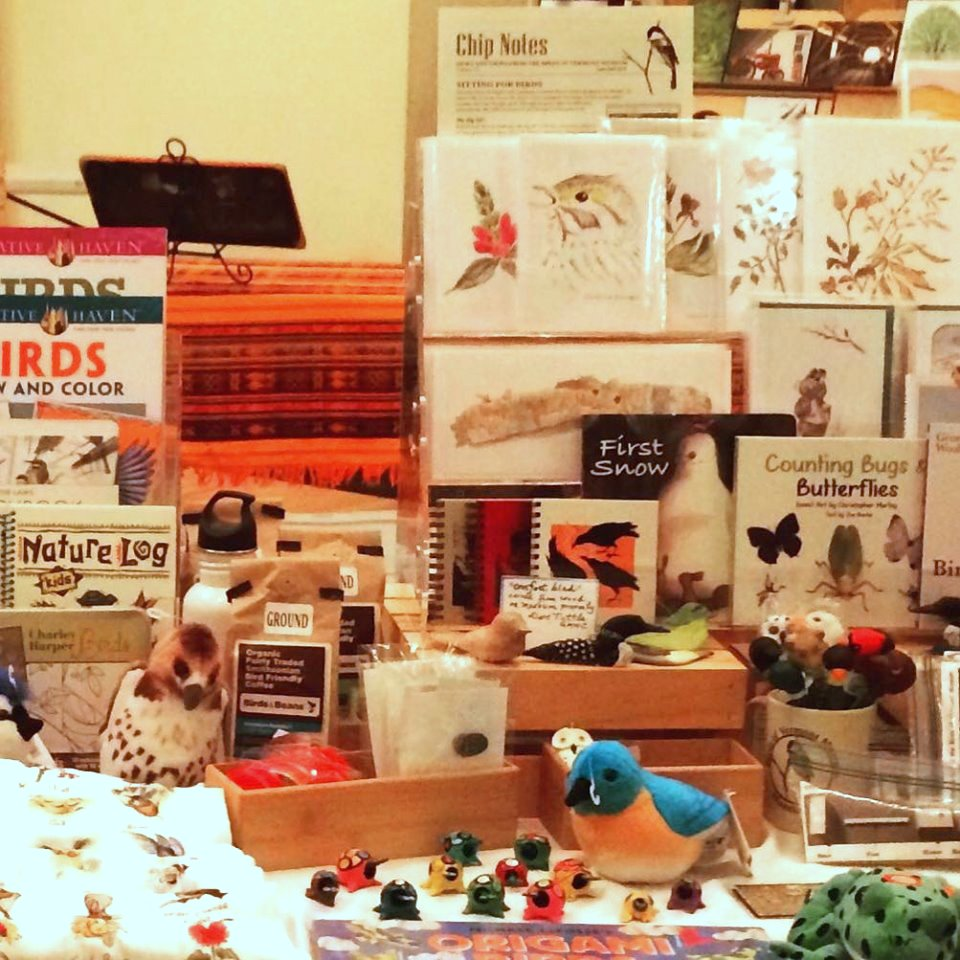 Bird gifts for sale at the Richmond Holiday market