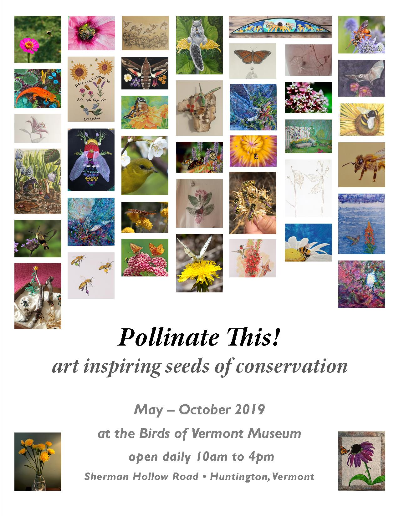 Thumbnails of art accepted for Pollinate This show