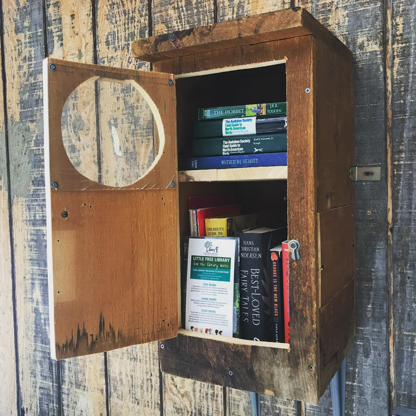 the Little Free Library at the Birds of Vermont Museum