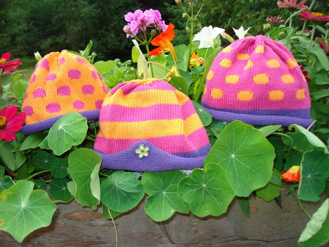 Kids cotton hat - brights